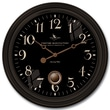 FirsTime 25628 Varenna Wall Clock, Black Face