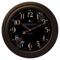 FirsTime 25631 Black Onyx Wall Clock, Black Face