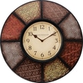 FirsTime 25635 Patchwork Wall Clock, Beige Face