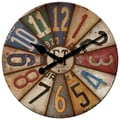 FirsTime 25640 Vintage Plates Wall Clock, Ivory Face