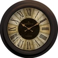 FirsTime 25650 Divided Amber Wall Clock, Beige Face