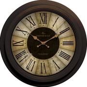 FirsTime 25650 Plastic Analog Wall Clock, Black
