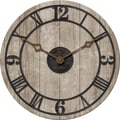 FirsTime 25652 Reclaimed Whitewash Wall Clock, Ivory Face
