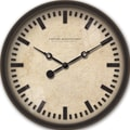FirsTime 25655 Raised Bronze Wall Clock, Beige Face