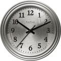 FirsTime 25666 Sleek Steel Wall Clock, Silver Face