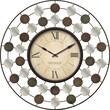 FirsTime 40131 Metal Analog Wall Clock, Multi-Color