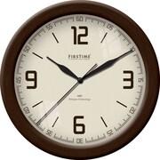 FirsTime 50000 Plastic Analog Wall Clock, Bronze