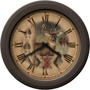 FirsTime 99010 Plastic Analog Wall Clock, Bronze