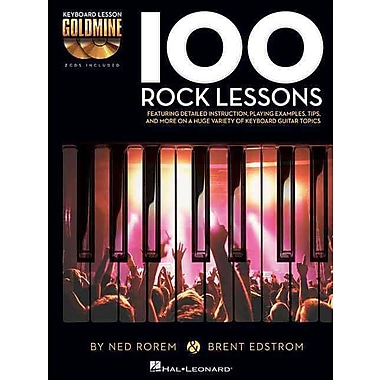 100 Rock Lessons: Keyboard Lesson Goldmine Series Book/2-CD Pack