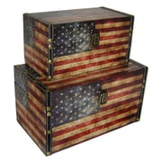Cheungs American Flag 2 Piece Treasure Box Set