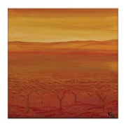 Artist Lane Autumn by Karen Hopkins Painting Print on Wrapped Canvas; 24'' H x 24'' W x 1.5'' D