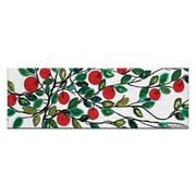 Artist Lane Apples 1 by Anna Blatman Painting Print on Wrapped Canvas; 12'' H x 40'' W x 1.5'' D
