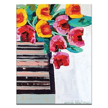 Artist Lane Tulips by Anna Blatman Painting Print on Wrapped Canvas; 40'' H x 30'' W x 1.5'' D