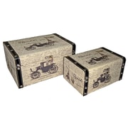 Cheungs Rectangular Box with Paris and Carriage (Set of 2)
