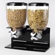 Zevro 17.5-oz. Professional Edition Double Dry Food Dispenser; Black
