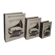 Cheungs Paris Phonograph Book Box (Set of 3)