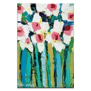 Artist Lane Field Daisies by Anna Blatman Framed Painting Print on Wrapped Canvas