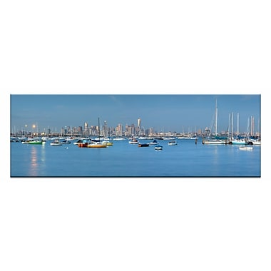 Artist Lane Twilight at Williamstown by Andrew Brown Photographic Print on Wrapped Canvas in Blue