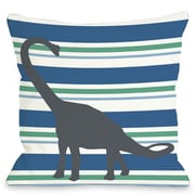 One Bella Casa Apostosaurus Throw Pillow; 18'' H x 18'' W