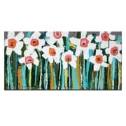 Artist Lane Country Garden by Anna Blatman Framed Painting Print on Wrapped Canvas