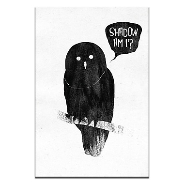 Artist Lane Shadow, Am I? by Ayarti Framed Graphic Art on Wrapped Canvas; 30'' H x 20'' W x 1.5'' D