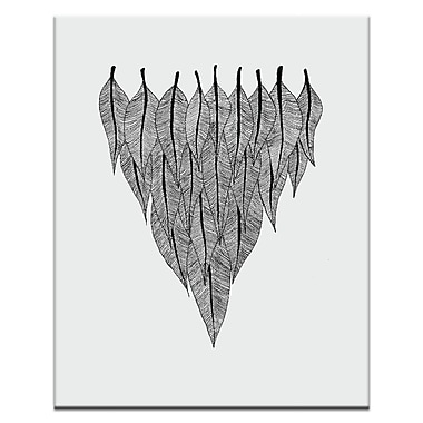 Artist Lane Feather Shield by Ayarti Framed Graphic Art on Wrapped Canvas