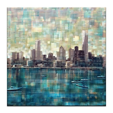 Artist Lane Bay Xi by Jennifer Webb Painting Print on Wrapped Canvas; 12'' H x 12'' W x 1.5'' D