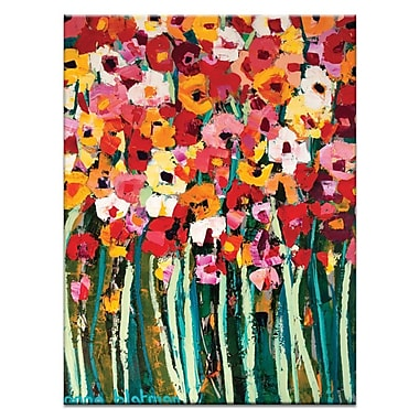 Artist Lane Lovely Poppies by Anna Blatman Framed Painting Print on Wrapped Canvas