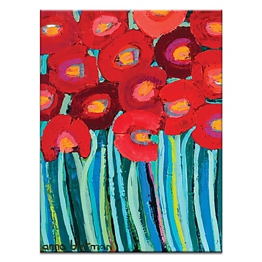 Artist Lane Red Poppy by Anna Blatman Framed Painting Print on Wrapped Canvas