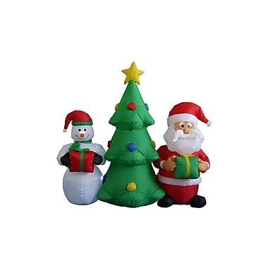 BZB Goods 5 ft. Christmas Tree Santa Snowman Decoration