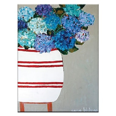 Artist Lane Geraniums by Anna Blatman Painting Print on Wrapped Canvas