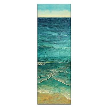 Artist Lane Ocean Shore 2 by Jennifer Webb Framed Painting Print on Wrapped Canvas