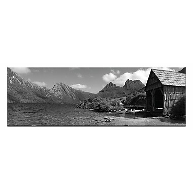 Artist Lane Summer Boatshed by Andrew Brown Photographic Print on Wrapped Canvas in Black