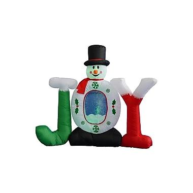 BZB Goods 4 ft. Joy Snowman Snow Globe Decoration
