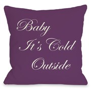 One Bella Casa Baby It's Cold Outside Reversible Throw Pillow; 20'' H x 20'' W