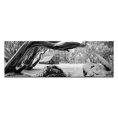 Artist Lane Snow Shelter by Andrew Brown Photographic Print on Wrapped Canvas in Black and White