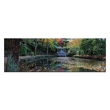 Artist Lane Boathouse Reflection by Andrew Brown Photographic Print on Wrapped Canvas