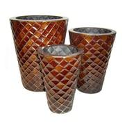 Cheungs 3 Piece Round Pot Planter Set (Set of 3)