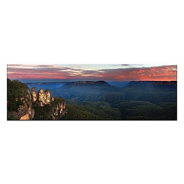 Artist Lane Three Sisters Sunset by Andrew Brown Photographic Print on Wrapped Canvas in Blue