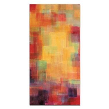 Artist Lane Skyline Tryptich Left by Jennifer Webb Painting Print on Wrapped Canvas