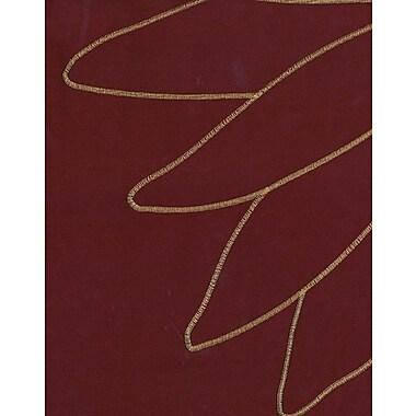 Loft Style Marseilles Single Curtain Panel; Crimson