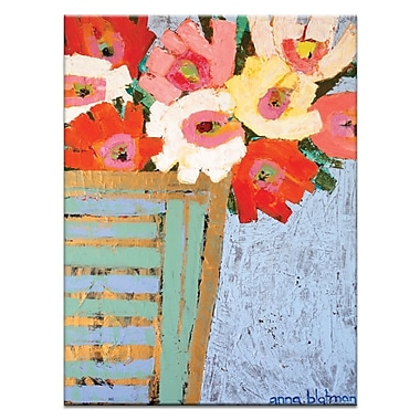 Artist Lane Asters Pot by Anna Blatman Painting Print on Wrapped Canvas
