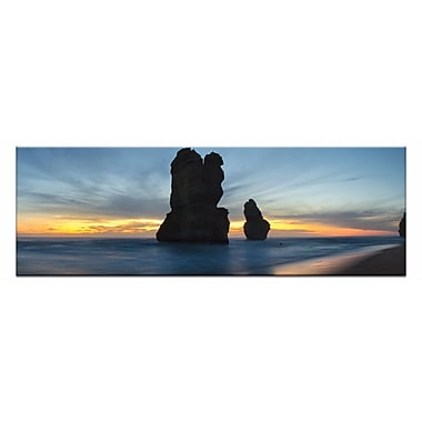 Artist Lane Twilight Apostles by Andrew Brown Wrapped Photographic Print on Canvas in Blue