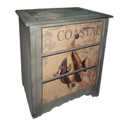 Cheungs 3 Drawer Coastal Cabinet