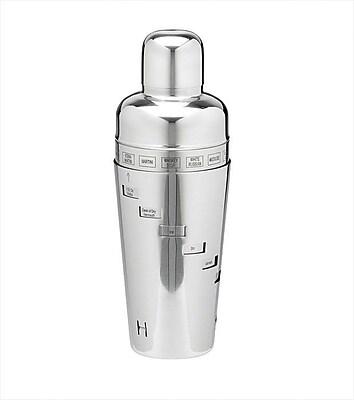 Kraftware Stainless Steel 32 Oz. Recipe Cocktail Shaker WYF078277013448