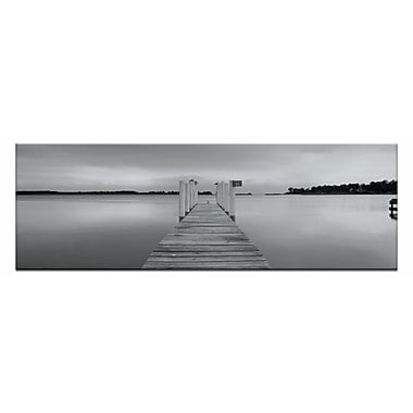 Artist Lane Peaceful Pier by Andrew Brown Framed Photographic Print on Wrapped Canvas in Gray