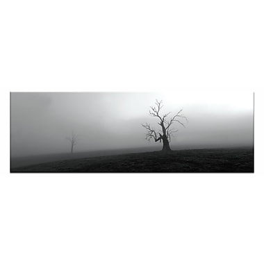 Artist Lane Out of the Mist by Andrew Brown Framed Photographic Print on Wrapped Canvas in Gray