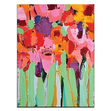 Artist Lane Field of Flowers by Anna Blatman Framed Painting Print on Wrapped Canvas