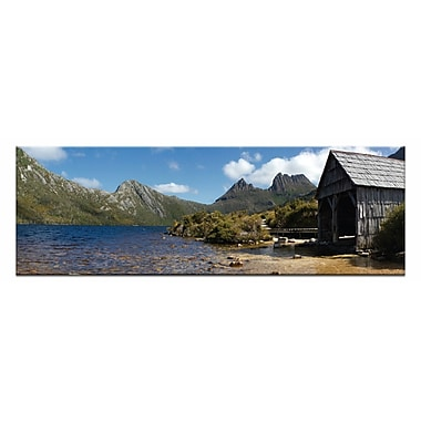 Artist Lane Summer Boatshed by Andrew Brown Photographic Print on Wrapped Canvas in Blue