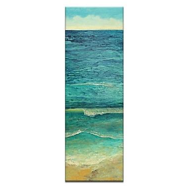 Artist Lane Ocean Shore 1 by Jennifer Webb Framed Painting Print on Wrapped Canvas